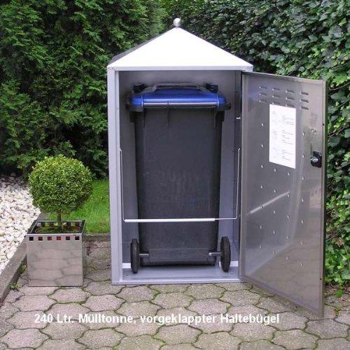 Mülltonnenbox Modell Gecon 240 Liter für drei Tonnen - 2