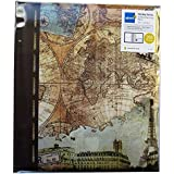 Kenro Old World Map Memo Photo Album holds 200 7x5''/13x18cm [HOL108]