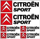 Stickasticker Plancha de Adhesivos de Citroën Sport (24 x 23 cm)