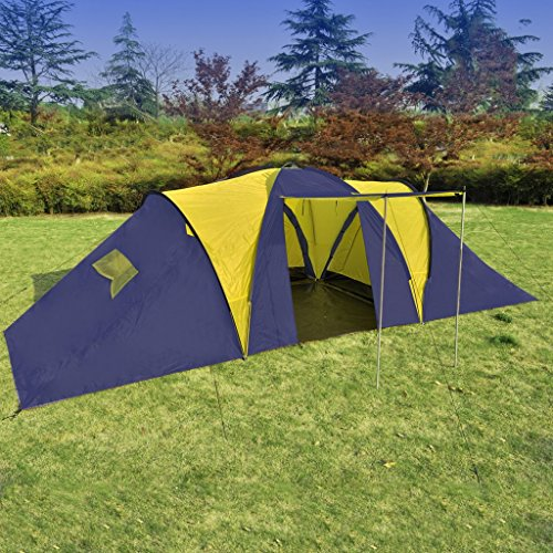 vidaXL Familienzelt Campingzelt Camping Zelt 9 Personen…   08718475850748