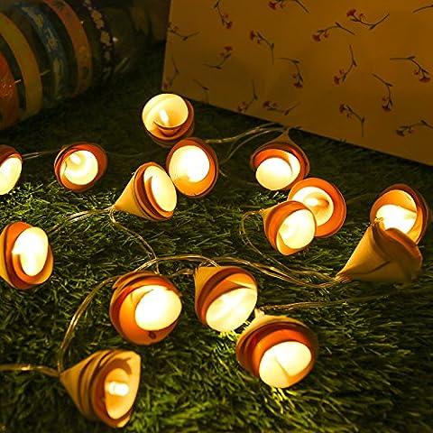Nene Le Luci A Led, Creative Home Log Sono Lampade Decorative Luce Stelle Sting Luci Per Interni E Porta Fuori Uso,3M20 Batteria