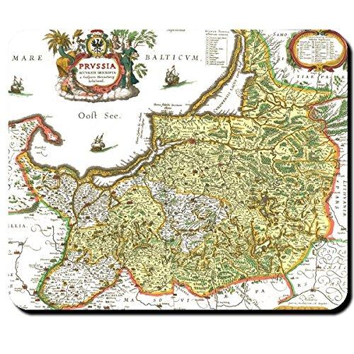 Preisvergleich Produktbild Alte Preußen Landkarte Ostsee Westpreußen Ostpreußen Deutschland Friedrich der Große Kurfürst Königreich Preußen Königsberg Karte - Mauspad Mousepad Computer Laptop PC #7940