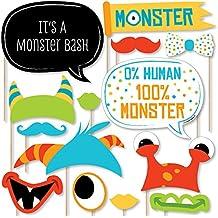 Monster Bash - Kit de 20 accesorios para fotos de bebé, diseño de monstruo con
