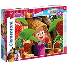 Clementoni - Puzzle maxi, Masha and the Bear, 24 piezas (240340)