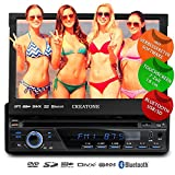 1DIN Autoradio CREATONE CTN-8423D26b mit GPS Navigation, Bluetooth, DVD-Player, Touchscreen und USB/SD-Funktion