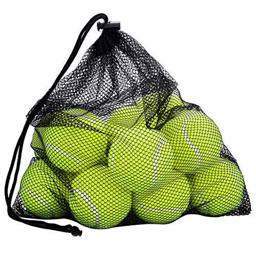 OMORC Tennisbälle,Mesh-Tragetasche, robust und langlebig, ideal für Unterricht, Praxis, Wurfmaschinen & Spielen mit Haustieren-12