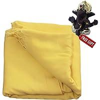 N.K. Enterprises Cotton 600 TC Bedsheet (Standard_Yellow)