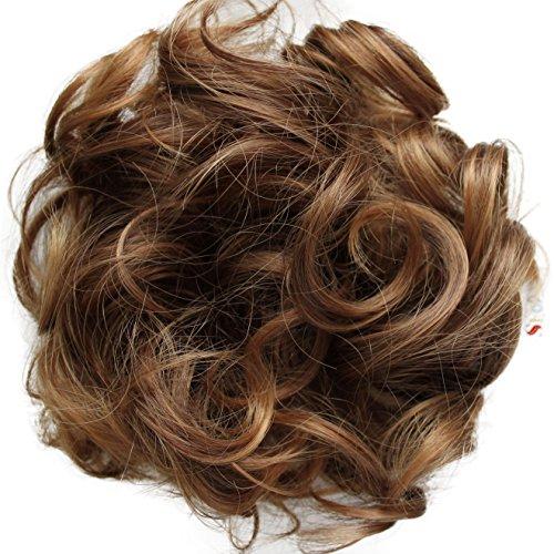 Prettyshop Haarteil Haargummi Hochsteckfrisuren, VOLUMINÖS, gelockter oder unordentlicher Dutt, verschiedene Farben erhältlich G16E
