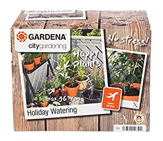GARDENA city gardening Urlaubsbewässerung: Pflanzenbewässerungs-Set für drinnen und draußen, individuelle Bewässerung von bis zu 36 Pflanzen (1265-20) (B0001E3S36) | Amazon price tracker / tracking, Amazon price history charts, Amazon price watches, Amazon price drop alerts
