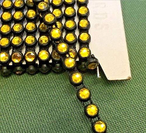 Gelb Gold/Schwarz Kristall aufreihmaterialien Trim Gelb Gold Trim