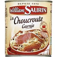 William Saurin Choucroute garnie au vin blanc La boîte de 800g - Prix Unitaire - Livraison Gratuit Sous 3 Jours