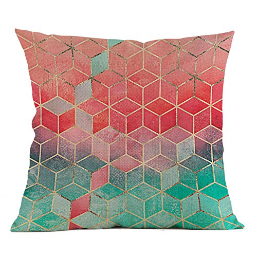 koperras Geometric Pillow Cover,45cm x 45cm (18in x 18in),Multi Pattern Pillow Case Waist Soft Cushion Cover Home Decor -