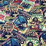 Doctor Who Stoff–Vintage Etiketten