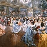 Artland Qualitätsbilder I Wandtattoo Wandsticker Wandaufkleber 80 x 80 cm Feiertage Feste historische Ereignisse Malerei Blau C4KY Hofball in Wien 1900