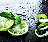 DAMU  Ceranfeldabdeckung 2 Teilig 2x30x52 cm Herdabdeckplatten Küche Elektroherd Induktion Herdschutz Spritzschutz Glasplatte Schneidebrett Grün Zitrone