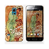 Coque Samsung Galaxy S5 mini de chez Skinkin - Design original : Winter par Alfons Maria Mucha