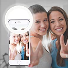 AUTOPkio Selfie Ring Light, 36 LED Light Ring USB Rechargeable Supplementary Selfie Lighting Night Darkness Selfie Enhancing for Photography for Smart Phones(USB Charge)