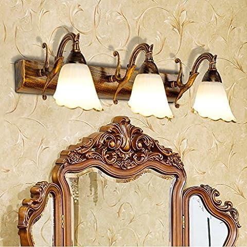Europea luci del bagno di luce specchio LED armadietto specchio