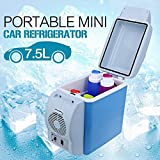 #8: Skyfun Multi-Function Mini Refrigerator Portable Fridge 12V 7.5L Auto Mini Car Travel Fridge Home Cooler Freezer Warmer