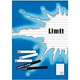 LIMIT Schoolschrift pak van 10 A4 Lineatuur 21 - gelinieerd zonder rand 16 vellen blauw