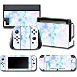 1 set di cover per corpo intero in pelle, adesivi colorati Art Decals per NS Switch console di gioco Joy-Con Controller…