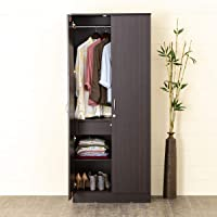 Home Centre Arvis Two Door Wardrobe - Walnut, (Model: HC-2842), 30 * 16.5 * 71 inches