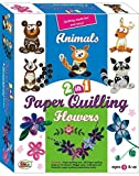 #3: Ekta 2 In 1 Animals and Flowers Paper Quilling Tool Kit Set For Kids 8+ Years/ Birthday Gift For Children