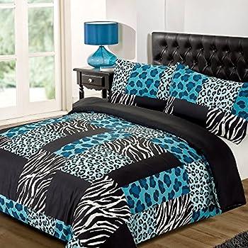 Dreamscene Kruger Animal Print Duvet Bedding Set With