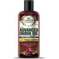 Luxura Sciences Advanced Onion Hair Oil For Hair Growth 250ml, Hair Stimulant with 21 Proven Natural Ingredients. Free From Mineral Oil, Silicones & Parabens.