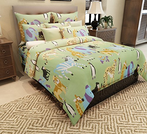 Home-Candy-144-TC-Animal-Kingdom-Kids-Cotton-Double-Bedsheet-with-2-Pillow-Covers-Multicolor
