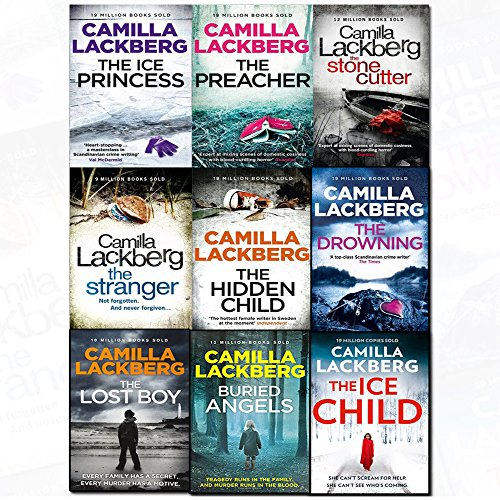 Camilla Lackberg Collection Patrik Hedstrom & Erica Falck series 9 Books Set (The Hidden Child, The Preacher, The Stranger, The Ice Princess, The Stone Cutter, The Drowning, The Lost Boy, Buried Angels, The Ice Child)