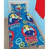 Disney Character Kids niños juego de funda de edredón ropa de cama fire-man nuevo