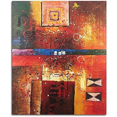 Raybre Art® 50 x 60 cm Cuadros en Lienzo - Cuadros Abstractos Retro Sobre -100% Pintada a Mano Pinturas de óleo para Arte Pared Decoración Hogar , Sin