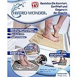 Hydro Wonder® Luxus Anti-Rutschmatte für Bad und Dusche Shower Mat 40 x 60 cm in Beige oder Grau - Original aus TV-WERBUNG! Farbe:Grau