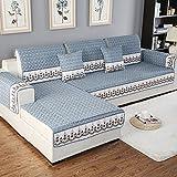 Anti-rutsch Sofa möbel protector für hund Ganze saison Plüsch Sofa werfen slipcover Sektionaltor slipcovers l form U-form Waschbar Couch abdeckung-1 stück-B 35x83inch(90x210cm)