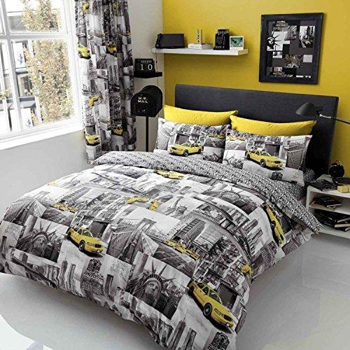 Lujo 'Nueva York Patchi edredón, funda de edredón, sábana bajera y fundas de almohada juego de ropa de cama de juego de ropa de cama–Modern, Varios...