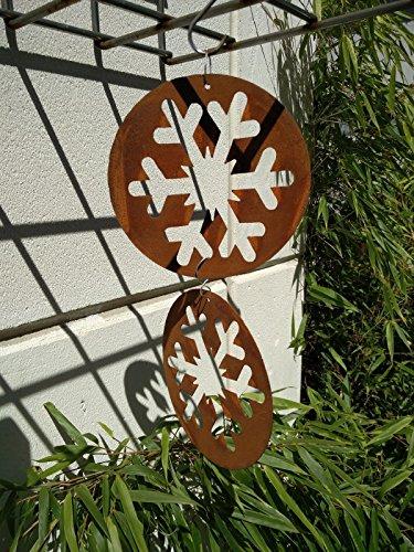 Garteninspiration Weihnachten Schneeflocke 2 Stück