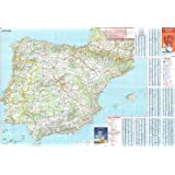 Michelin National Wall Map of Spain & Portugal (a - Encapsulated in Gloss Plastic)