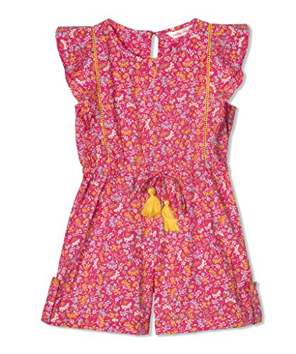 Budding Bees Girls Pink Floral Playsuit