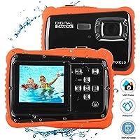 Cámara digital HD bajo el agua 3M impermeable cámara de la cámara de acción,12MP 2 pulgadas pantalla LCD niños