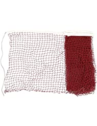 sourcingmap® 6 x 0,7 m Nylon blanc tressé GARNITURE Bordeaux maille filet de Badminton