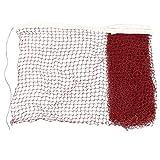 sourcingmap® 6 x 0,7 M Nylon Bianco Inserto Bordeaux Maglia Intrecciata Formazione Badminton Netto