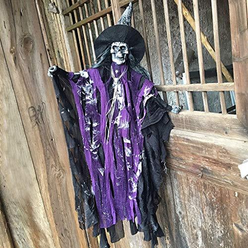 JIBO Horror Que Cuelga Fantasma De Halloween Props Casa Embrujada Fantasma Bar Colgante De Juguete Que Brilla Intensamente Festival De La Decoración