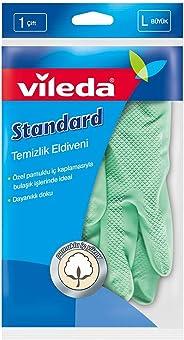 Vileda Standart Eldiven,%100 Doğal Lateks, L