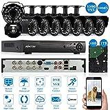KKmoon CCTV DVR de surveillance système de sécurité AHD Caméra
