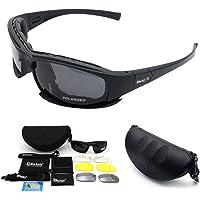 Polarisierte Sport-Sonnenbrille, MASO X7 Armee-Sonnenbrille Militärische taktische Schutzbrillen mit 4 Wechselobjektiv…