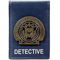 Cartera de DC Comics Batman Gotham City Detective Badge Azul
