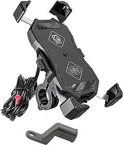 12 V Motorrad Handy Qi Schnellladehalterung Halterung Halter Halter Für Smartphone Auto