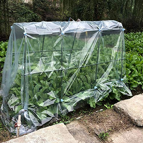 LIANGLIANG-Serre de jardin Jardinage Maison De Fleurs Très Grand Hangar Chaud Imperméable Coupe-Vent en Plastique Transparent Durable Résistance À La Déchirure