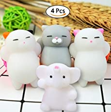 Party Propz Squeeze Stress Reliever Squishy Toys for Kids and Adults Pack of 4